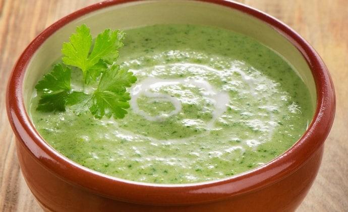 מרק זוקיני מוקרם